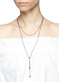 Alexander McQueen Swarovski crystal skull charm tiered necklace