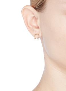 Xiao Wang 'Gravity' diamond 14k yellow gold horseshoe earrings