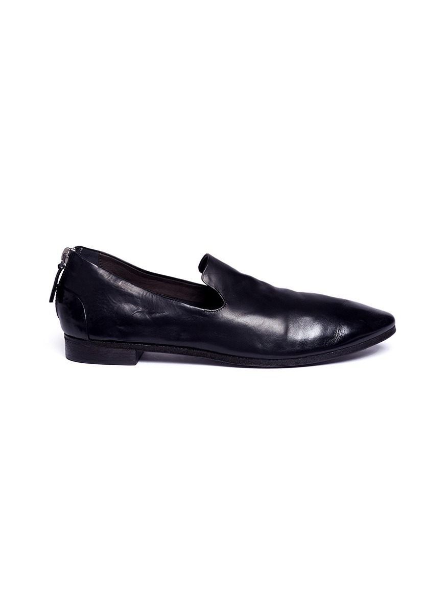 Colteldino zip back leather loafers by Marsèll