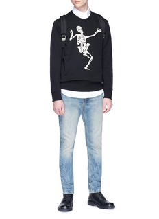 Alexander McQueen Dancing skeleton embroidered sweatshirt