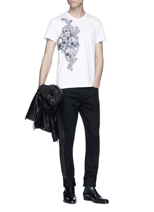 Figure View - Click To Enlarge - ALEXANDER MCQUEEN - Slim fit jeans