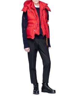 Alexander McQueen Detachable hood down puffer vest