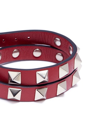 Detail View - Click To Enlarge - Valentino - 'Rockstud' double wrap bracelet