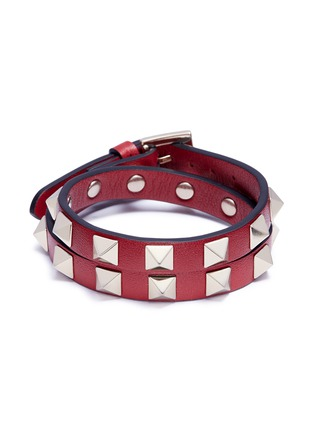 Main View - Click To Enlarge - Valentino - 'Rockstud' double wrap bracelet