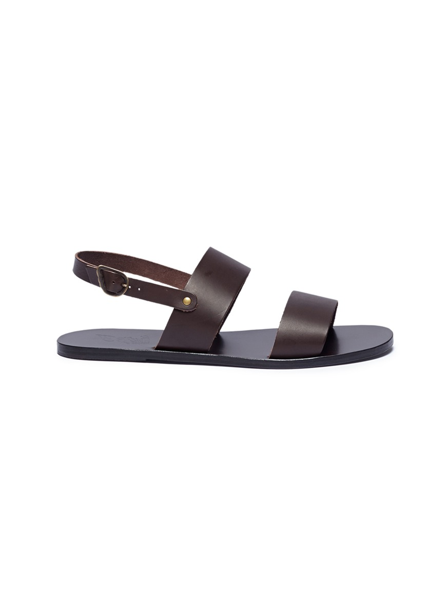 Dinatos cow leather slingback sandals by ANCIENT GREEK SANDALS