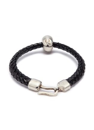 Figure View - Click To Enlarge - Alexander McQueen - Skull charm braided leather bracelet