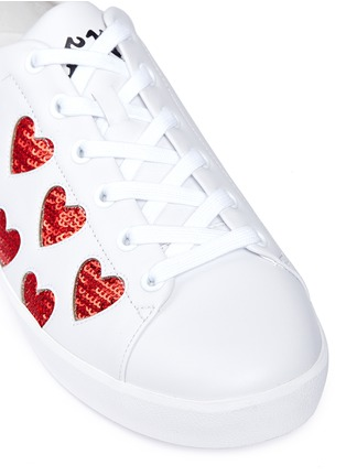 Detail View - Click To Enlarge - Ash - 'Nikita' sequin heart leather sneakers