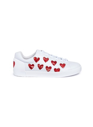 Main View - Click To Enlarge - Ash - 'Nikita' sequin heart leather sneakers