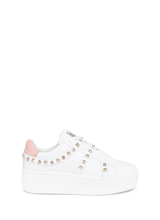 Main View - Click To Enlarge - Ash - 'Clone' strass stud leather platform sneakers