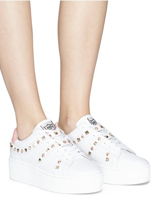 Figure View - Click To Enlarge - Ash - 'Clone' strass stud leather platform sneakers