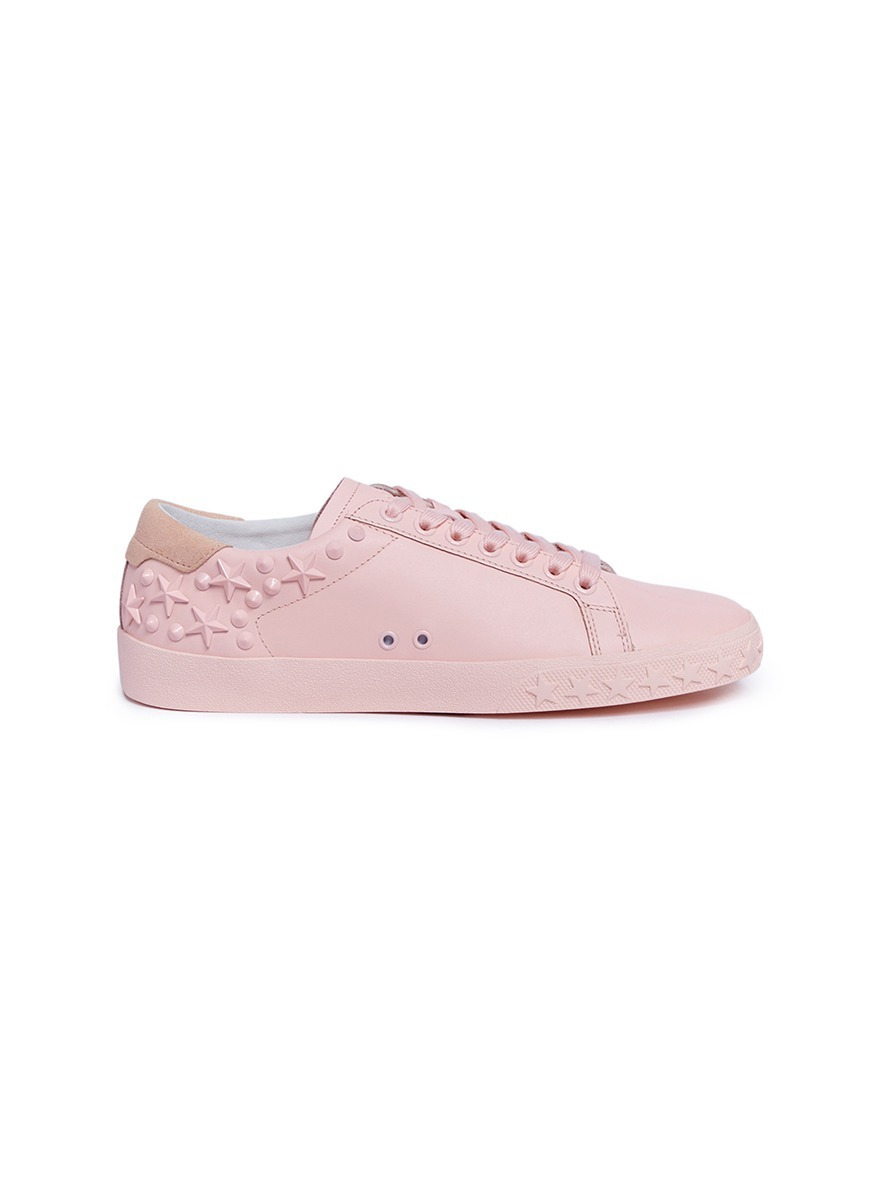 Dazed star stud leather sneakers by Ash