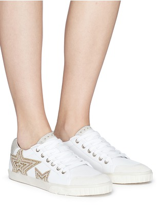 Figure View - Click To Enlarge - Ash - 'Magic' star patch leather sneakers
