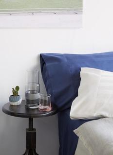 LANE CRAWFORD Stripe pillowcase set –Indigo