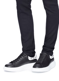 Alexander McQueen 'Larry' stud collar chunky outsole leather sneakers