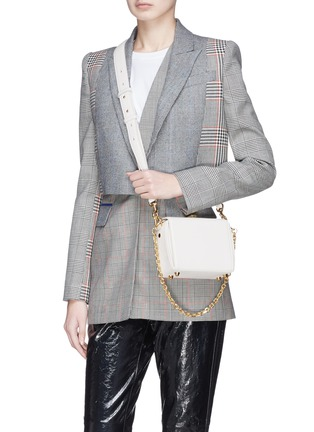 Figure View - Click To Enlarge - ALEXANDER MCQUEEN - 'Box Bag 16' in goatskin leather
