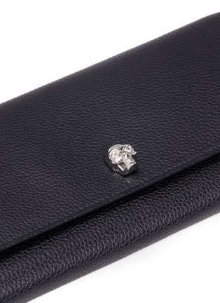 Detail View - Click To Enlarge - Alexander McQueen - Skull leather wallet