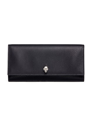 Main View - Click To Enlarge - Alexander McQueen - Skull leather wallet