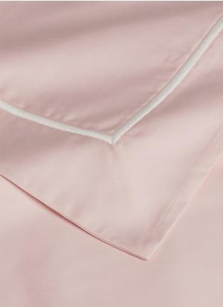Detail View - Click To Enlarge - Lane Crawford - Contrast border king size duvet set – Pink