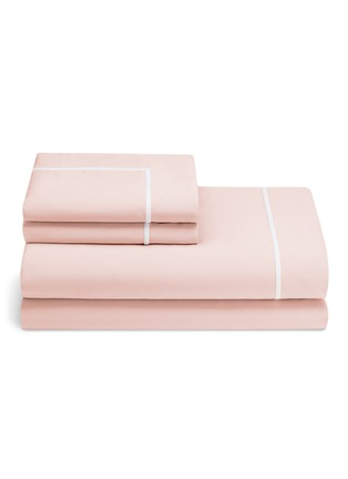 Main View - Click To Enlarge - Lane Crawford - Contrast border king size duvet set – Pink