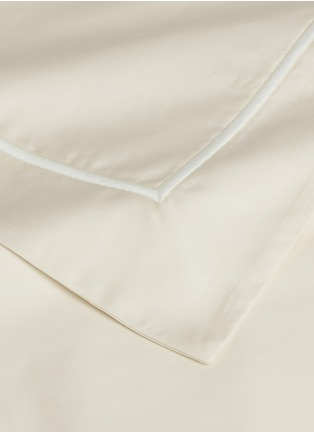 Detail View - Click To Enlarge - LANE CRAWFORD - Contrast border queen size duvet set – Ivory