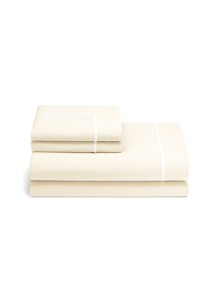 Main View - Click To Enlarge - Lane Crawford - Contrast border queen size duvet set – Ivory