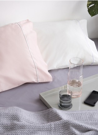- LANE CRAWFORD - Contrast border pillowcase set –Ivory