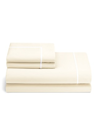 Main View - Click To Enlarge - LANE CRAWFORD - Contrast border king size duvet set – Ivory