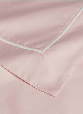 Detail View - Click To Enlarge - LANE CRAWFORD - Contrast border queen size duvet set – Pink