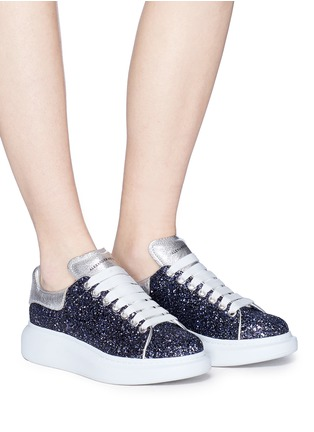 Figure View - Click To Enlarge - Alexander McQueen - 'Larry' chunky outsole glitter sneakers