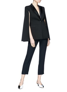 Stella McCartney Wool cape back tuxedo blazer