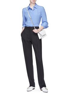 Victoria Beckham Virgin wool-mohair tuxedo pants