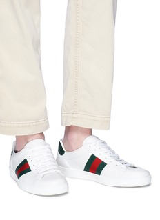 Gucci 'Ace' croc embossed counter leather sneakers