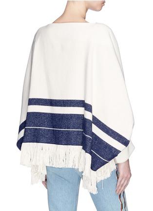Back View - Click To Enlarge - Chloé - Fringe hem stripe sweater