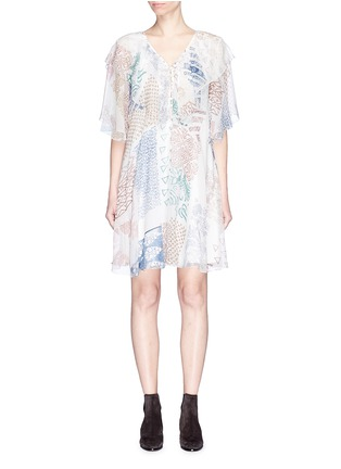 Main View - Click To Enlarge - Chloé - Graphic print silk georgette dress