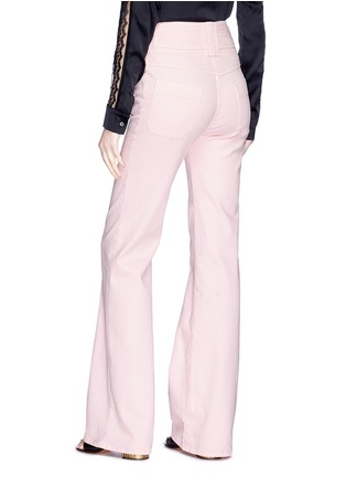 Back View - Click To Enlarge - Chloé - Buckled side flared jeans