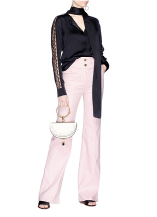 Figure View - Click To Enlarge - Chloé - Buckled side flared jeans