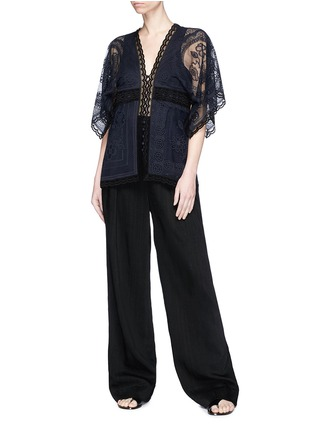 Figure View - Click To Enlarge - Chloé - 'Haut' geometric tablecloth lace top