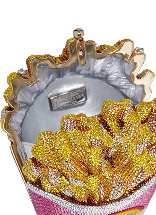 Detail View - Click To Enlarge - JUDITH LEIBER - 'Rainbow French Fries' crystal pavé minaudière