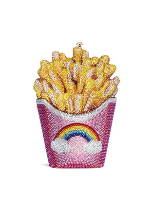 Main View - Click To Enlarge - JUDITH LEIBER - 'Rainbow French Fries' crystal pavé minaudière