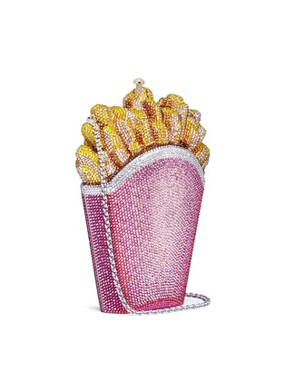 Figure View - Click To Enlarge - JUDITH LEIBER - 'Rainbow French Fries' crystal pavé minaudière