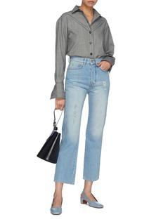 VICTORIA, VICTORIA BECKHAM 'Cali' distressed cropped straight leg jeans