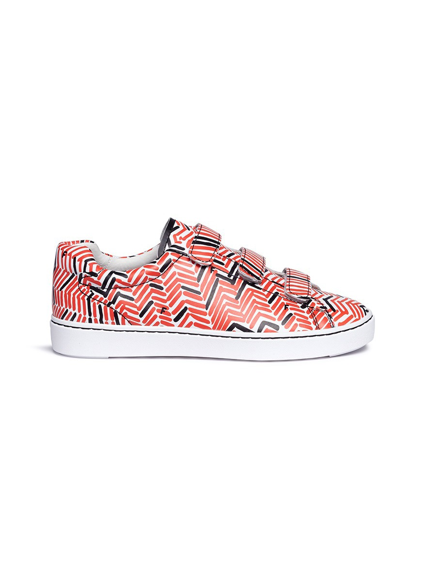Pharell tweed print leather sneakers by Ash