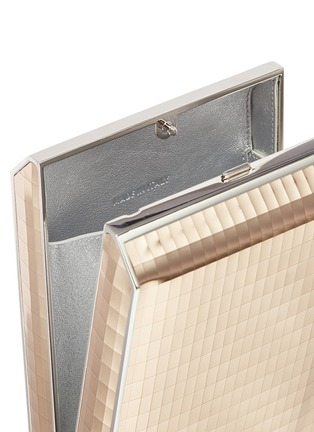 Detail View - Click To Enlarge - JUDITH LEIBER - 'North South Rectangle' tassel metallic leather box clutch