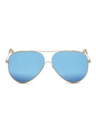 Main View - Click To Enlarge - Victoria Beckham - 'Loop Aviator' metal mirror sunglasses