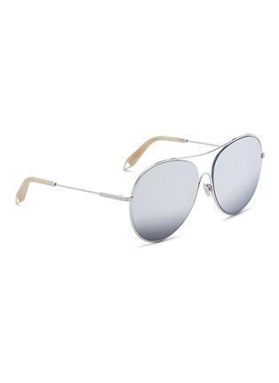 Figure View - Click To Enlarge - Victoria Beckham - 'Loop Round' metal mirror aviator sunglasses