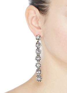 Lulu Frost 'Royale' glass crystal linear drop earrings