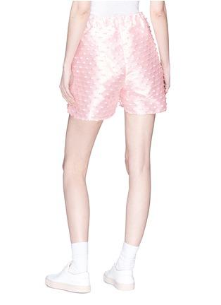 Back View - Click To Enlarge - Cecilie Bahnsen - 'Nivi' stripe fil coupé satin shorts