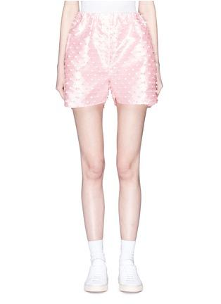 Main View - Click To Enlarge - Cecilie Bahnsen - 'Nivi' stripe fil coupé satin shorts