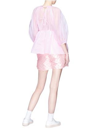 Figure View - Click To Enlarge - Cecilie Bahnsen - 'Nivi' stripe fil coupé satin shorts
