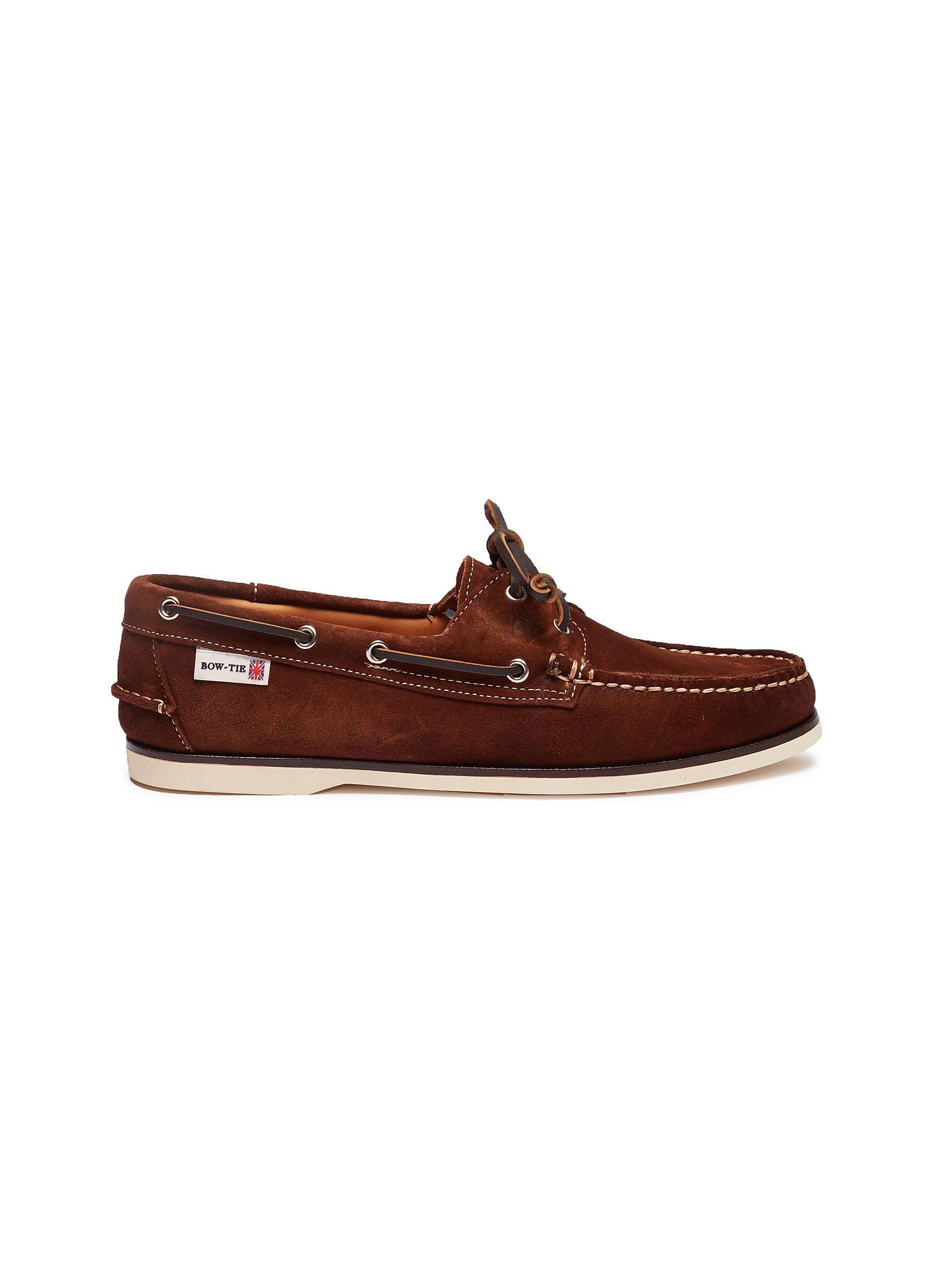 Adams suede boat shoes by Bow-Tie